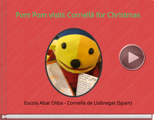 Book titled 'Pom Pom visits Cornellà for Christmas'