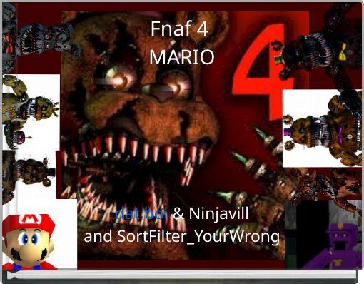 Fnaf 4 MARIO