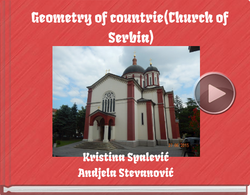 Book titled 'Geometry of countrie(Church of Serbia)'