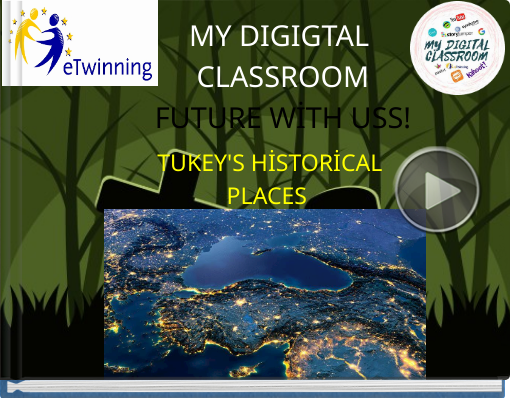 Book titled 'MY DIGIGTAL CLASSROOMFUTURE WİTH USS!'
