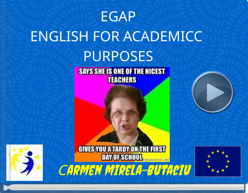 Book titled 'EGAPENGLISH FOR ACADEMICC PURPOSES'