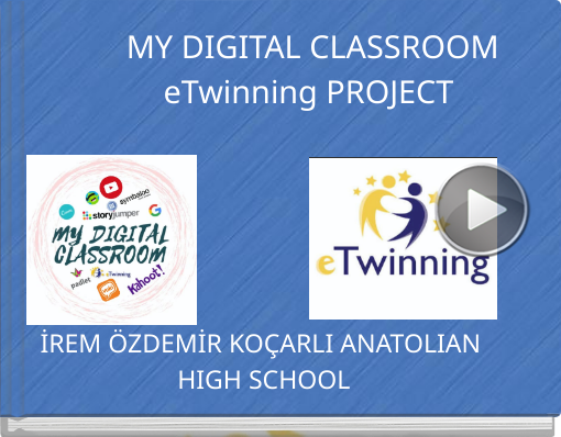 Book titled 'MY DIGITAL CLASSROOM eTwinning PROJECT'