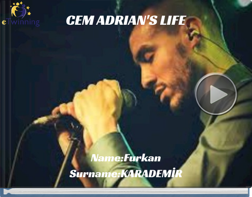 Book titled 'CEM ADRIAN'S LIFE'