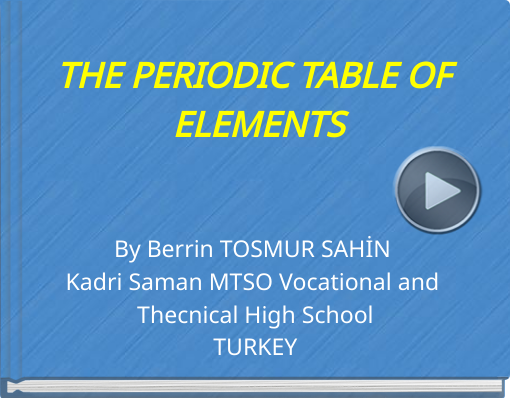 Book titled 'THE PERIODIC TABLE OF ELEMENTS'