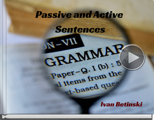 Book titled 'Passive and Active Sentences'