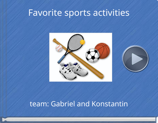 Book titled 'Favorite sports activities'