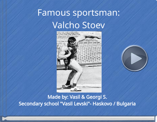 Book titled 'Famous sportsman:Valcho Stoev'
