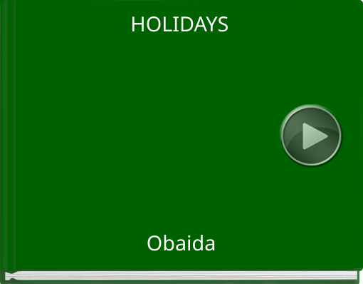 Book titled 'HOLIDAYS'