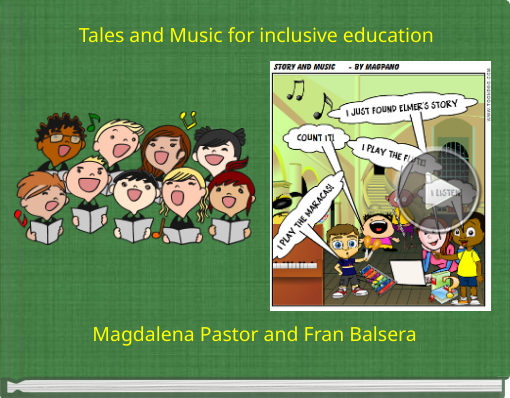Book titled 'Tales and Music for inclusive education'