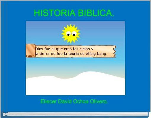 HISTORIA BIBLICA.