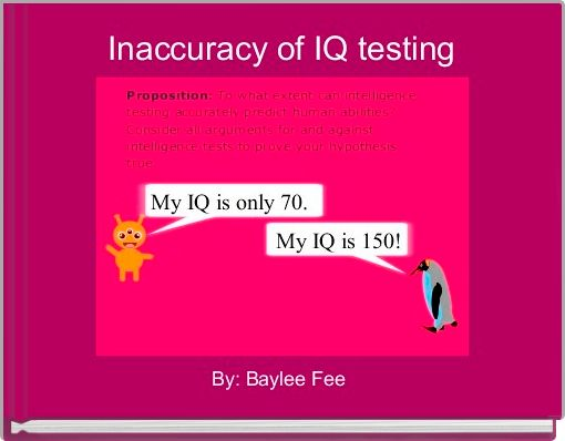Inaccuracy of IQ testing