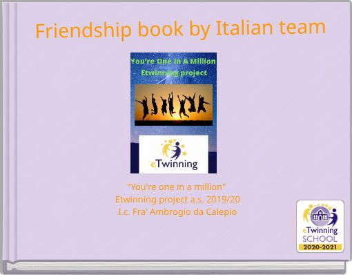 Friendship book by Italian team