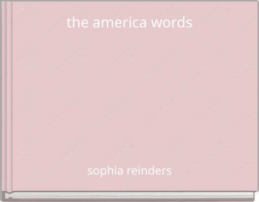 the america words