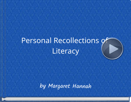 Book titled 'Personal Recollections of Literacy'