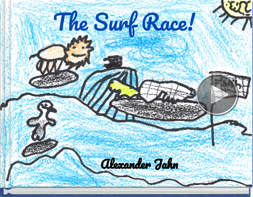 Book titled 'The Surf Race!'