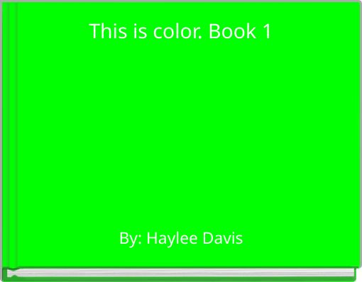 This is color. Book 1