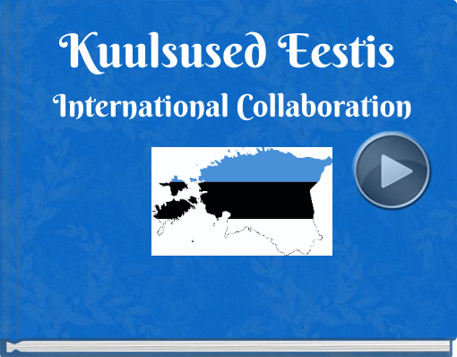 Book titled 'Kuulsused Eestis International Collaboration'
