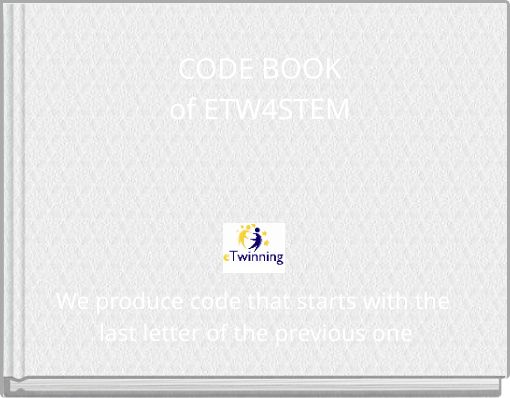 CODE BOOKof ETW4STEM