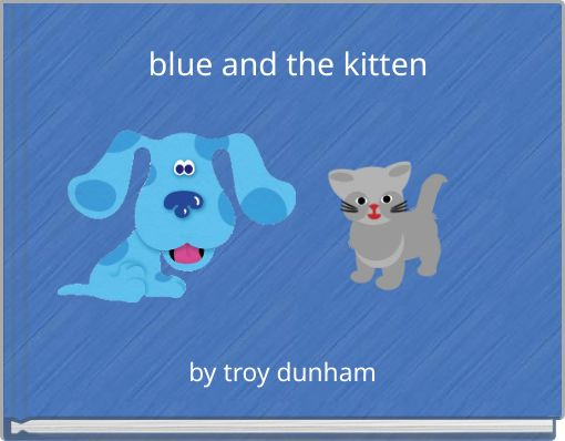 blue and the kitten