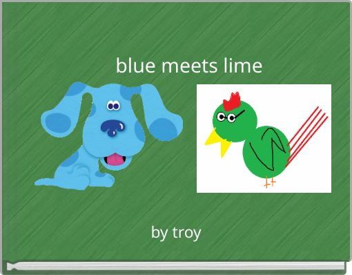 blue meets lime