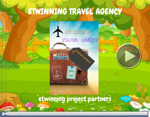 Book titled 'ETWINNING TRAVEL AGENCY'
