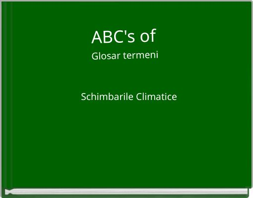 ABC's of  Glosar termeni
