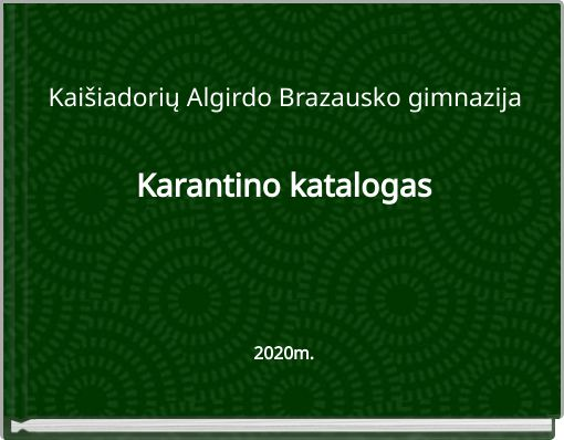 Karantino katalogas2020m.