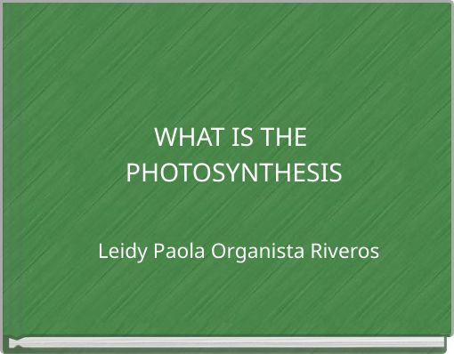 WHAT IS THE PHOTOSYNTHESIS