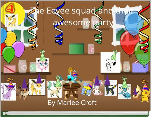 The Eevee squad and their awesome party
