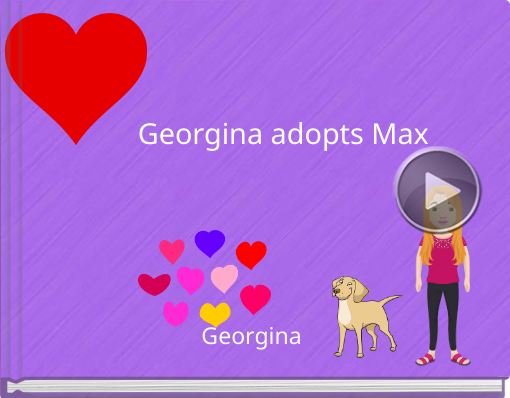 Book titled 'Georgina adopts Max'