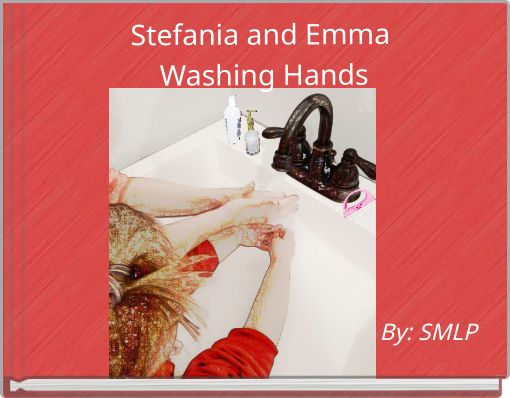Stefania and Emma Washing Hands