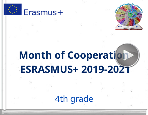 Book titled 'Month of Cooperation ESRASMUS+ 2019-2021'
