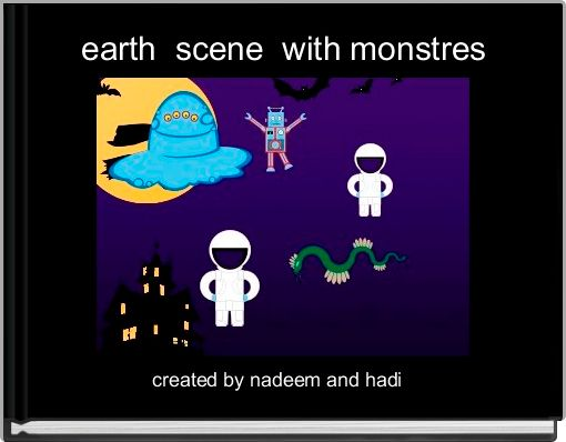 earth  scene  with monstres